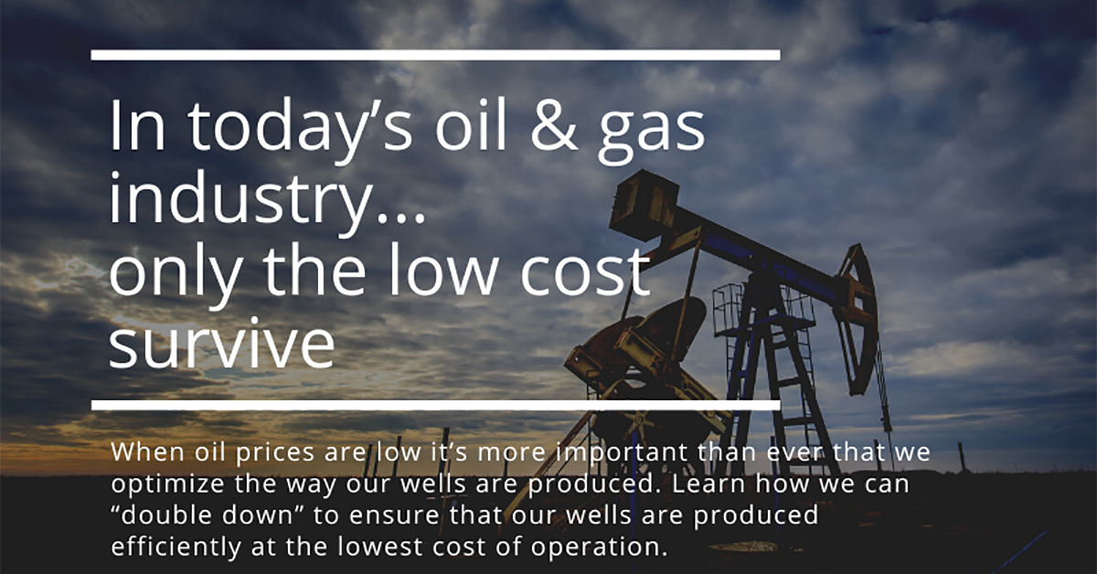 In today's oil & gas industry...only the low cost survive